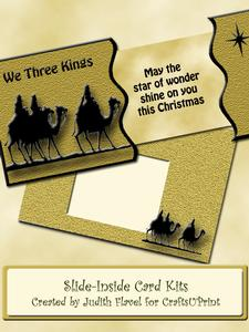 Slide-inside Christmas - We Three Kings