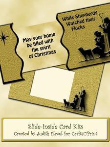 Slide-inside Christmas - Shepherds
