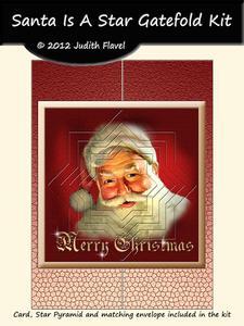 Santa is a Star - Gatefold Card Kit