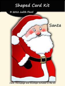 Shaped Card - Santa