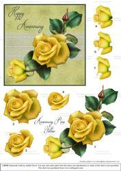 Anniversary Roses - Yellow