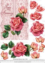 Roses on Lace - Pink on Pink - Anniversary