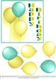 Birthday Balloons - Green & Gold