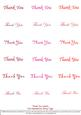 Thank You - Nesties Tags Reds