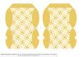 Mini Pillow Boxes - Trelllis - Gold