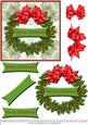 Holly Wreath - Card Front Plus