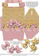 Gable-top Box - Pink and Gold
