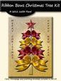 Ribbon Bow Christmas Tree - Red & Gold