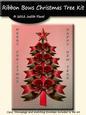 Ribbon Bow Christmas Tree - Red Green Mix