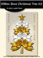 Ribbon Bow Christmas Tree - White & Gold