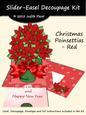 Slider-easel - Poinsettias Red