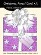 Christmas Parcel - Purple & White with Stars