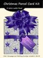 Christmas Parcel - Silver & Purple with Stars