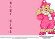 Jolly the Clown Gatefold New Baby - Pink on Pink