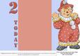 Jolly the Clown Gatefold 2nd Birthday - Orange on Blue