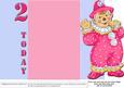 Jolly the Clown Gatefold 2nd Birthday - Pink on Blue