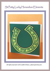 St Patty Lucky Horseshoe Word Art
