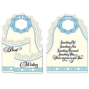 Something Blue Bendy Card - SVG