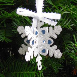 Christmas Snowflake Ornament - Studio Ready
