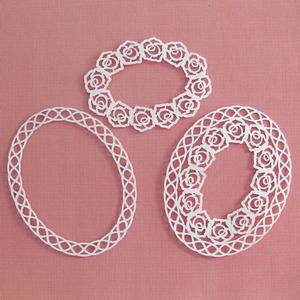 Rose Lattice Oval Frames