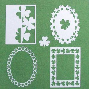 St. Patrick's Day - Shamrock Frame Set 3 - SVG