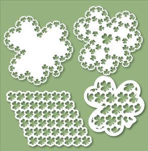 St. Patrick's Day - Shamrock Doilies Set 1 - SVG