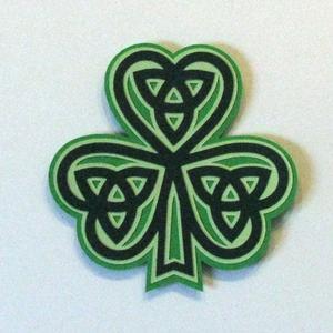 St Patrick's Celtic Knot Shamrock - SVG