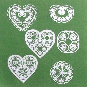 Romantic Scroll Hearts & Embellishments - SVG