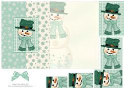 Frosty the Snowman - Foldback Card with Pyramid