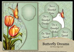 Tulips and Butterfly Dreams - Wavy Edge Card Kit
