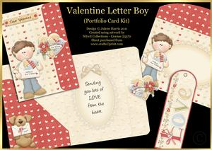 Valentine Letter Boy - Portfolio Card Kit