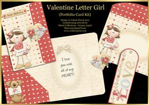 Valentine Letter Girl - Portfolio Card Kit