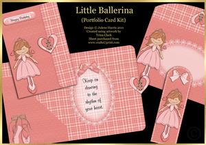 Little Ballerina - Portfolio Card Kit
