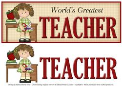 World's Greatest Teacher - Dl Decoupage Card