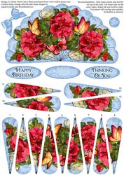 Floral Butterfly Beauty - Fan Sheet