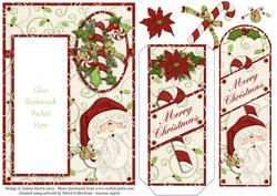 Peeking Santa - Bookmark Pocket Card