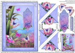 Fantasy Butterflies - Four Corner Bookmark Card