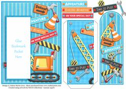 Under Construction - Bookmark Pocket Card