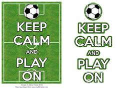 Keep Calm and Play on - Card Front