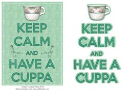 Keep Calm and Have a Cuppa - Card Front