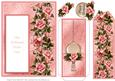 Pink Serenity Roses - Bookmark Pocket Card