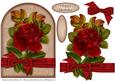 Red Rose and Ribbon - Decoupage Card
