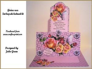 Glorious Roses Tent/bookmark It
