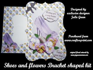 Shoes and Flowers Bracket Shaped Card Kit