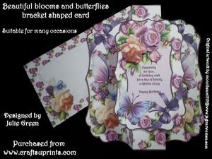 Beautiful Blooms and Butterflies Bracket Shaped Kit