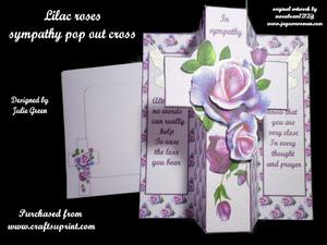 Lilac Roses Sympathy Kit