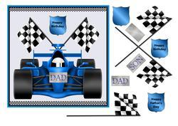 Racing Car Card