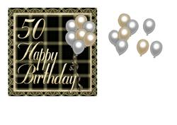50th Birthday Balloon Card