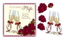 Wife Wedding Anniversary Card