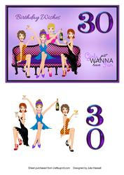 30th Birthday Card Girls Just Wanna Have Fun